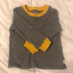 Carter's grey thermal shirt
